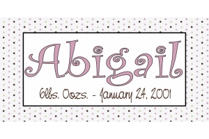 Kids Polka Dot and Date Name Art - 14